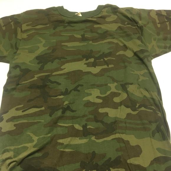 0ec75217 Sportswear Shirts | Vintage Camouflage T Shirt 80s Military Tee Ml ...